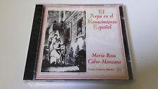 """MARIA ROSA CLAVO-MANZANO """"EL ARPA DEL RENACIMIENTO ESPAÑOL"""" CD 19 TRACKS NUEVO"""