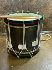 Antique  Marching DRUM w Rope Ties & Metal Sides Vintage percussion instrument