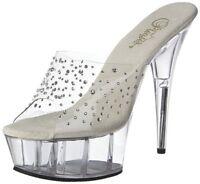 Pleaser Womens Delight-601 RS Platform Sandal- Pick SZ/Color.
