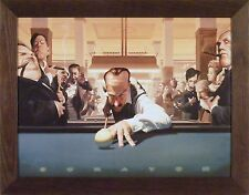 SCRATCH by James Bennett 22x28 FRAMED PRINT Pool Billiards Game Room 8 Ball
