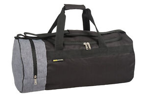 Mens & Boys Sports & Gym Kit Bag - TRAVEL SPORTS WORK LEISURE BLACK & GREY BAGS