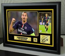 "Zlatan Ibrahimović  Framed Canvas Print Signed ""Great Gift"" Limited Edition"