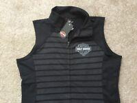 Harley Davidson Mock Neck Full Zip Sleeveless Sweatshirt NWT Women's XL