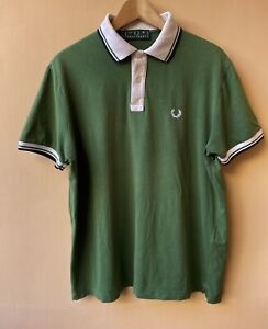 Polo Fred Perry England TgM Green Shirt Made In Italy