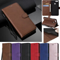Simple Pure Flip Wallet Leather Strap Stand Case Cover For Android Mobile Phone