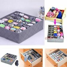 30 Cell Ties Socks Underwear Shorts Drawer Closet Divider Organizer Storage Box