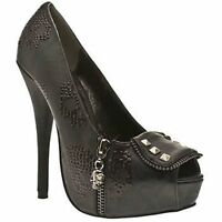 Iron Fist Ruff Rider Black New Womens Hi Heels Shoes