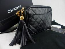 CHANEL crossbody Matelasse camera bag black lizard exotic leather - timeless