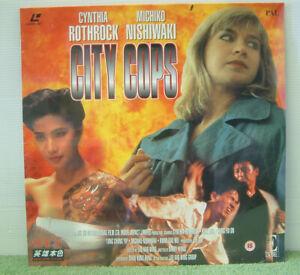 City Cops (1989) PAL Laser Disc, Hong Kong Gangs Film, Lau Kar Wing [EE 1057]