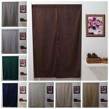Door Half Curtain Linen Kitchen Tapestry Doorway Room Divider Solid Color