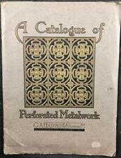 C1920'S G A HARVEY & CO, CATALOGUE OF PERFORATED METALWORK ILLUSTRATED WRAPS