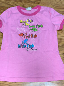 Vintage 1960 Dr Seuss One Fish Two Fish T Shirt Juniors Medium