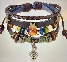 Bracelets Gypsy & Free Gift ! U Get 2 ! Unisex Leather