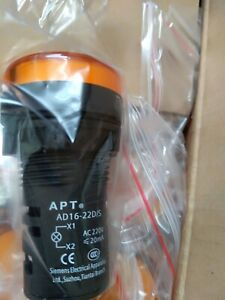 4pc New Siemens APT Yellow Signal Indicator AD16-22D-Y31S 220V