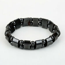 Fashion Black Magnetic Hematite Healing Mens Womens Loose Beads Bracelet!W