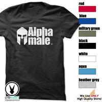 ALPHA MALE Gym Rabbit T-Shirt Workout BodyBuilding Fitness MMA Motivation c773