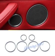 6PCS Chrome Inner Door Audio Speaker Circle Trim For BMW X5 F15 X6 F16 2015-2018