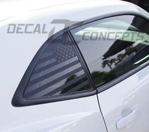 2010-2015 Camaro Carbon Fiber American Flag Rear Quarter Window Accent Decal (2)