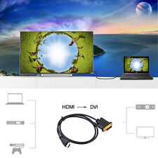HDMI To DVI-D Digital 24+1pin Male To Female Cable Lead PC TV LCD Console
