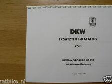 D0045 DKW---ERSATZTEILE-KATALOG 75/1---RT 125 MIT HINTERRADFEDERUNG-