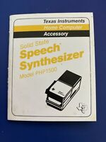 Texas Instruments PHP1500 Speech Synthesizer Manual TI 99 4A