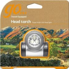 Go Head Torch Light LED Flashlight Camping Hiking Walking Safety Outdoor NEW