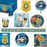 Boys Police Party Themed Birthday Tableware Balloon, Banner, Invitations & Props