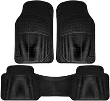 Auto Floor Mat for Ford Car Truck SUV Van 3pc Full Set All Weather Rubber Black