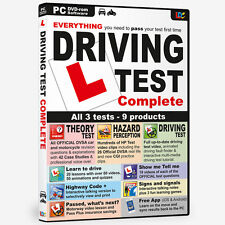 DRIVING TEST COMPLETE DVD ROM THEORY TEST DVSA HAZARD PERCEPTION BNIB