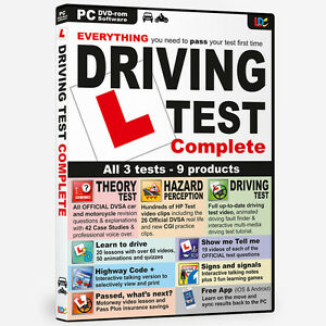 DRIVING TEST COMPLETE DVD ROM THEORY TEST DVSA HAZARD PERCEPTION BNIB 2021