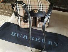 BURBERRY VINTAGE HAYMARKET MESSENGER BAG PURSE AUTHENTIC  RARE