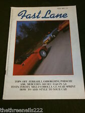 FAST LANE - TOYOTA MR2 TEST - MAY 1985