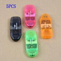 5Pcs USB Micro SD TF M2 SDHC Memory Stick Card Reader Adapter For PC Laptop Mini
