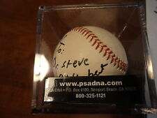 GEORGE H.W. BUSH - Signed BASEBALL TO STEVE w/ Inscrip - PSA DNA LOA AUTHENTICS