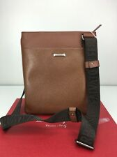 Salvatore Ferragamo San Francisco Messenger Shoulder Bag Pebbled Brown 249802