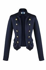 AO Blazer Uniform Stil  Knöpfe Military  Casual Jacke Marine  Blau XL 42
