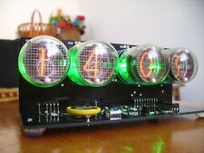 IN-4 NIXIE TUBES CLOCK WITH GREEN BACKLIGHT
