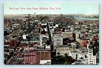 New York City, NY - EARLY 1900s BIRDS EYE AERIAL VIEW - UNUSED POSTCARD - E7