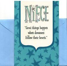 Congratulations Niece Follow Your Heart Graduation Greeting Card By Hallmark