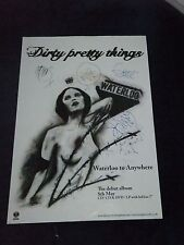 DIRTY PRETTY THINGS SIGNED POSTER