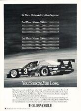 1993 Oldsmobile IMSA Race Cutlass Supreme Advertisement Print Art Car Ad J568