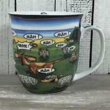 großer Kaffeebecher Mäh fresse Comic Schaf und Hund Hösti Becher Tasse maritim