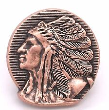 "Left Facing Chief Head Concho Antique Copper 1-1/2"" 3667-10 by Stecksstore"