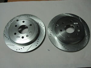 New Set of Power Stop AR8675XR & AR8675XL Drilled and Slotted Rear Rotor