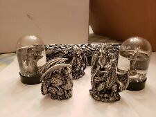 Dragon Figurines, Snow globes & Incense Burner. 7 items. Cool little dragons!