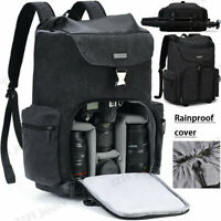 Large M8 Black Canvas Camera Bag Backpack For Canon Sony Nikon Leica Pentax SLR