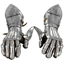 New Medieval Steel Gauntlet Gloves For Battle Ready And Tournament