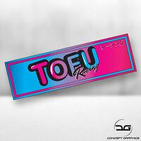 Tofu Racing Funny Novelty JDM Japanese Drift Car Window Vinyl Decal Slap Sticker