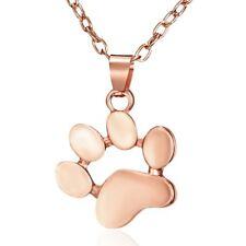New Charm Women Jewelry Dog Pet Cat Animal Paw Print Footprint Necklace Pendant