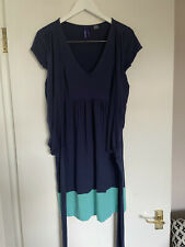 Seraphine Maternity Nursing Blue Jersey Wrap Dress UK Size 6